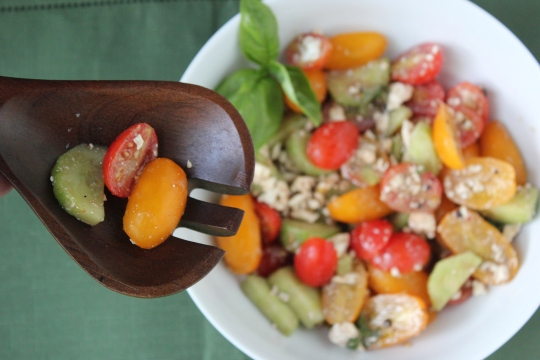 Tomato, Cucumber and Feta Salad
