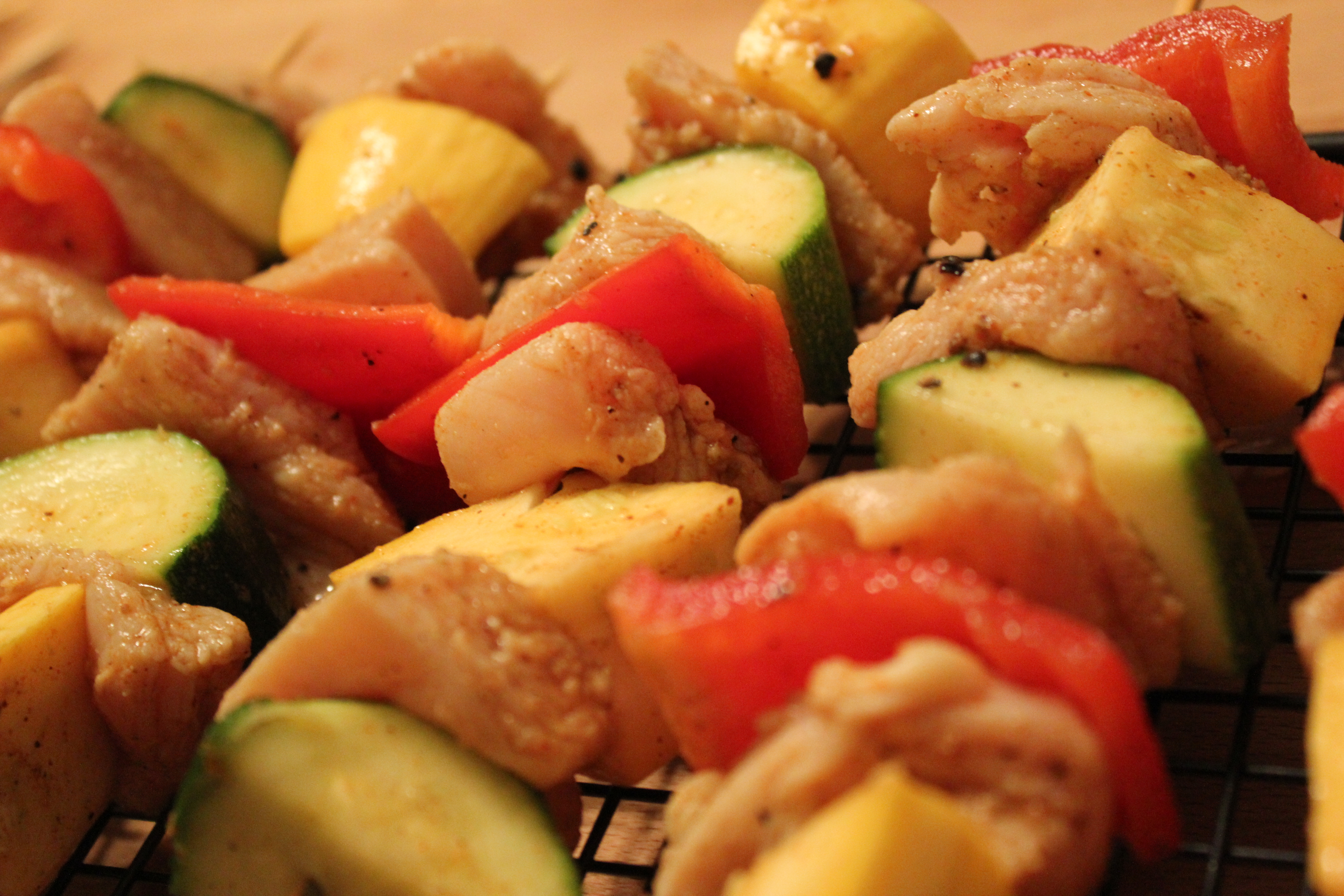 Lime Grilled Chicken Kabobs