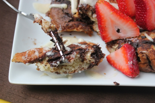French Toast with Goat Cheese Drizzle