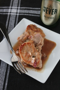 Beer-Brined Pork Tenderloin with Beer-Mustard Sauce
