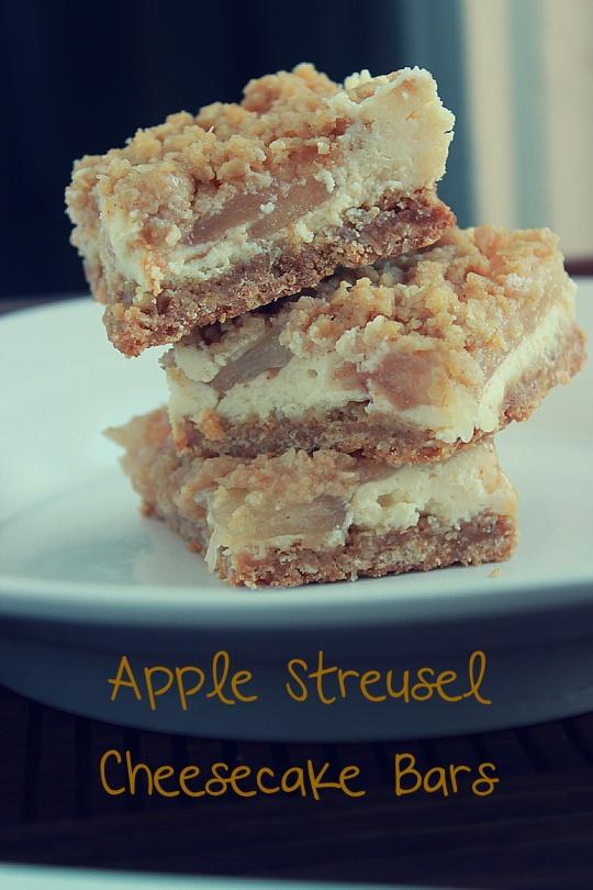 Apple Streusel Cheesecake Bars