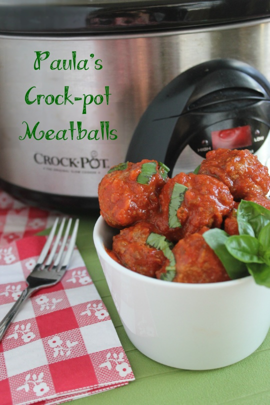 Paula's Crockpot Meatballs