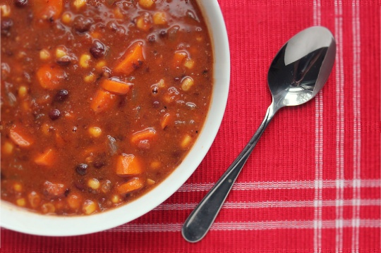 Black Bean Veggie Soup