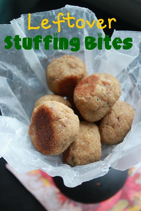 Leftover Stuffing Bites