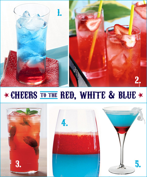 red white blue cocktails