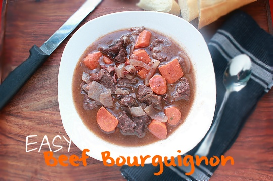 Easy Beef Bourguignon