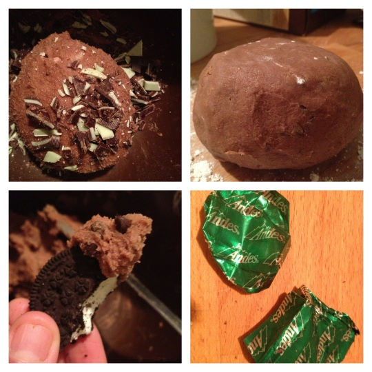 Mint Cookie Dough Ball