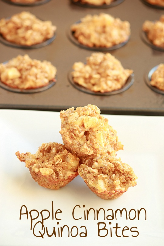 Apple Cinnamon Quinoa Bites for Breakfast! | And They Cooked Happily ...