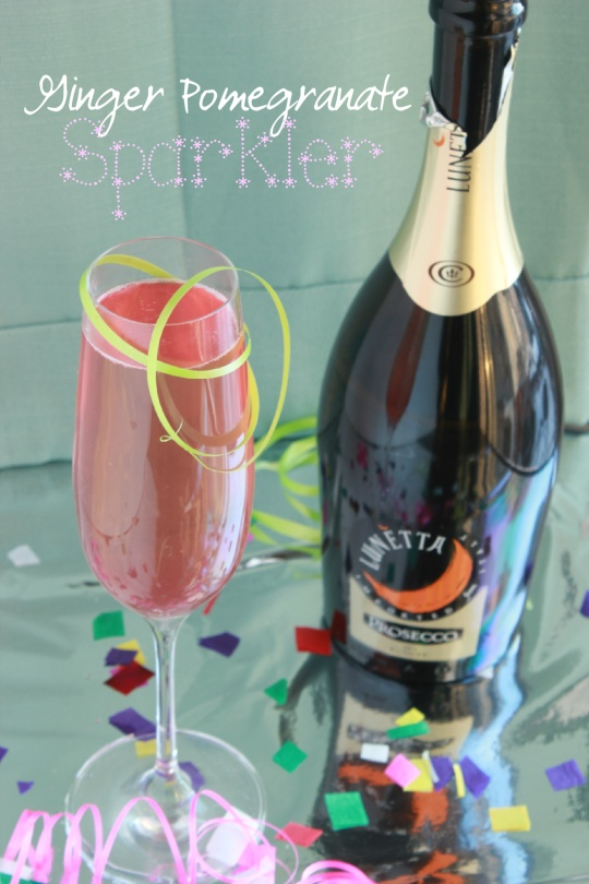 Ginger Pomegranate Sparkler